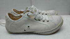 Diesel Kaelyn White Canvas Fashion Sneaker Lace Up Casual Women Shoes Size 9M 40