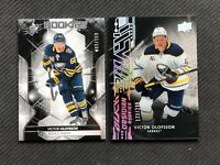 2019-20 UPPER DECK VICTOR OLOFFSON ROOKIE LOT OF 2 BLACK OBSIDIAN /299 +SPX /199