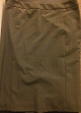 New THE LIMITED Womens Taupe Tan Brown Lined Gold Pinstripe Skirt Size 6