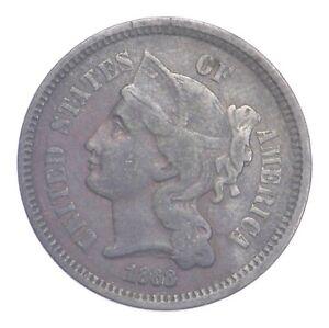 ***3***THREE***Cent*** - 1868 Three Cent Nickel Piece - Tough to Find *927
