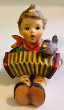 "Vintage Goebel Hummel Boy Accordion Bird ""Let's Sing"" Figurine 1970's"
