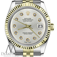 Silver Color Dial Women's Rolex 31mm Datejust with 10 Round Cut Diamond Jubilee