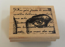 "Steam Punk Eye Words used mounted Rubber stamp JudiKins 2502 F 2.5"" x 2"""