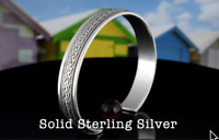 7SB-862 Genuine Solid 925 Sterling Silver Wristband Cuff Bangle Men Bracelet.