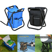 Outdoor Folding Camping Fishing Beach Chair Portable Picnic Backpack Seat Bag