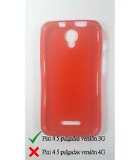 Funda de gel TPU carcasa protectora silicona para Alcatel Pixi 4 5.0 3G Roja