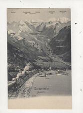 Gotthardbarn Switzerland Vintage Map Postcard 700a