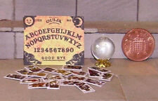 HAND-MADE DOLLS' HOUSE 1/12TH SCALE OUIJA BOARD, TAROT CARDS AND CRYSTAL BALL