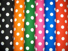 """5/8"""" Polka Dots Cotton Quilt Fabric 6 Colors Available"""