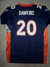REEBOK Denver Broncos BRIAN DAWKINS nfl Jersey YOUTH KIDS BOYS (L-LARGE)