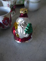 Vintage Glass Christmas Ornament Santa Claus #4 LOOK