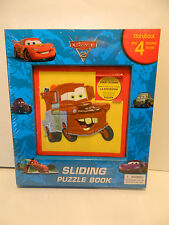 Disney Pixar Cars 2 sliding Puzzle Book Storybook & 4 Puzzels  ***NEW IN PACK***