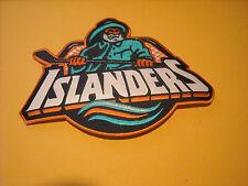 "NHL NEW YORK ISLANDERS JERSEY CREST IRON ON PATCH FISH STIX 8 1/4"" X 5 3/4"""