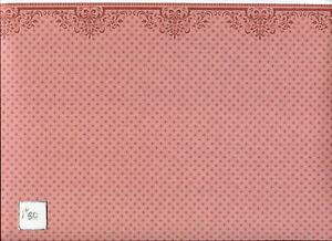 Brodnax Prints Oak Lawn -Red 1VT363 Arts & Crafts wallpaper dollhouse 1/12 scale