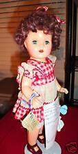 "Vintage Composition Shirley Temple Girl Doll 15"" Tall"