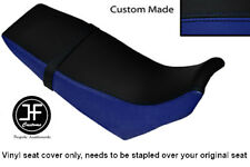 ROYAL BLUE & BLACK VINYL CUSTOM FITS YAMAHA DT 125 RE 04-07 DUAL SEAT COVER ONLY
