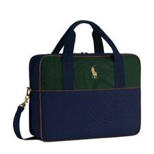 Ralph Lauren Laptop/Sling Bag blue canvas / leather
