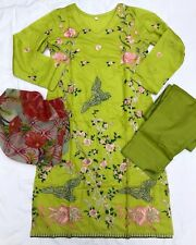 Saphhire - Lawn Pakistani Designer FULLY STITCHED Shalwar Kameez - READY TO WEAR