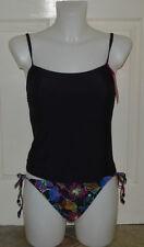 Side Tie Scoop Neck Regular Size Swimwear for Women
