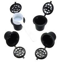 1X(4x Refillable Reusable Coffee Capsules Pods For Nespresso Machines Spoo R4Y9)