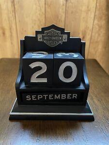 Harley Davidson Hallmark Black Perpetual Desk Calendar