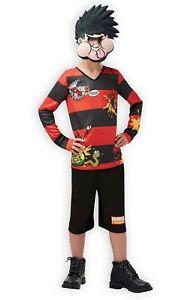 Boys Dennis The Menace Costume Beano Cartoon Book Week Child Fancy Dress