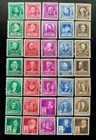 1940 US SC #859-893 Famous American  Issues Complete Set of 35