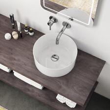 Lavabo appoggio bianco ceramica 40,5 cm bacinella arredobagno moderno lavandino
