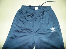 Vintage Mens Adidas black jogging bottoms size medium polyester D6 F180