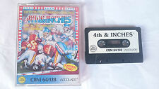 CASSETTE 4TH & INCHES AMERICAN FOOTBALL COMMODORE 64 128 CMB 64 C64 PAL ENGLISH