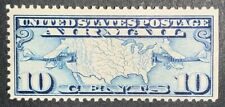 Travelstamps: 1926-30 US Stamps Scott # C7 Mint,Og, MNH, Map of US and Airplanes