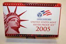 2005-S United States Mint Silver Proof Set Box & COA [030GAJ]