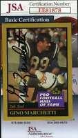 Gino Marchetti 1991 Enor Hall Of Fame Jsa Coa Hand Signed Authentic Autograph