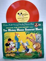 D234 Mickey Mouse Newsreel Music Vintage Mickey Mouse Club Disney 78 RPM Record