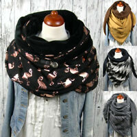 Women General Muffler Scarves Wrap Scarf Blended Warm Large Outdoor Winter Fall