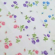Polycotton Fabric Summer Rose Flower Floral Hyacinth's Dress