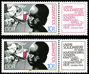 EBS East Germany DDR 1988 - International Solidarity - Michel 3202 MNH**
