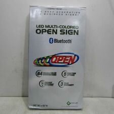 Green Light Innovations Led Mulit-Colored Open Sign