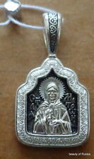 silver 925'  Pendant st Matrona consecrated to the relics of st George #2