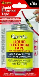Star Brite Liquid Electrical Tape - 4 Oz Can with Applicator Brush Cap