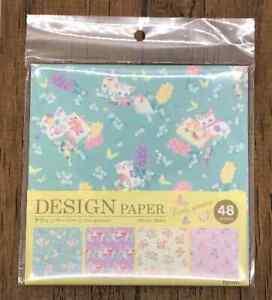Design Paper Origami Cat Rabbit Bear Deer Pattern 150 x 150 48pcs