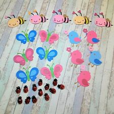 Bees/Butterflies/Birds Die Cut Outs Embellishments Scrapbook/Crafting 29 pieces