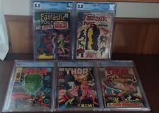 Fantastic Four 66,67 (1967) & Thor (1969) 164,165,166 1st HIM (Adam Warlock)CGC