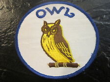 Vintage Iron-on OWL PATCH Embroidered 1970's - Near Mint