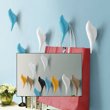 1X Bird Shape Resin Wall Hook Towel Coat Hook Wall Hanger Living Room Bathroom