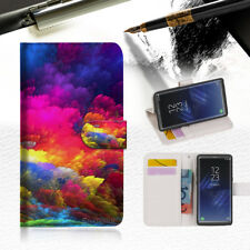Colorful Cloud Wallet Case Cover For Samsung Galaxy Note 8- A021