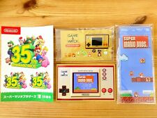 ★ Game & Watch Mario 35th Limited Pins + Stand + Stickers + Official booklet ★