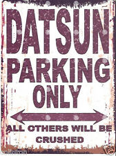 DATSUN PARKING SIGN RETRO VINTAGE STYLE 8x10in 20x25cm garage workshop art