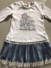 Stunning Monnalisa Girls Dress USED size 5 kids