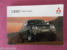 MITSUBISHI L200 (2004 - 2006) OWNERS MANUAL - OWNERS GUIDE - HANDBOOK  (MIT 178)
